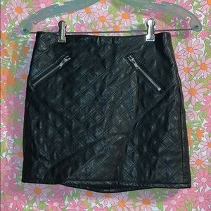 H&M Faux Quilted Leather Skirt